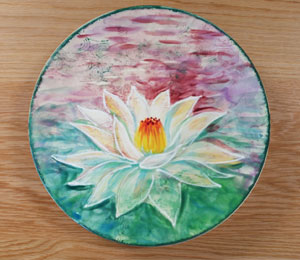 Rocklin Lotus Flower Plate
